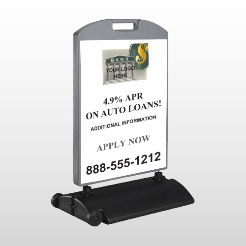 Auto Loan 173 Wind Frame Sign