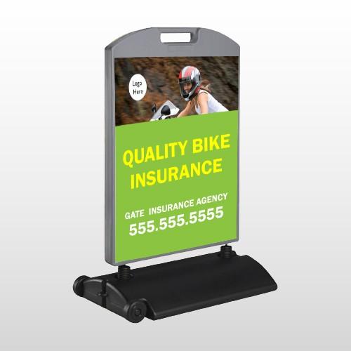 Bike Insurance 110 Wind Frame Sign