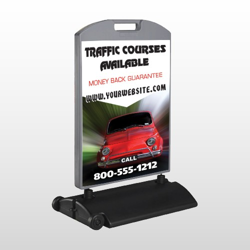 Car Traffic 153 Wind Frame Sign