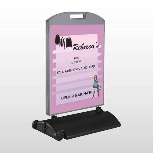 Fine Clothing 531 Wind Frame Sign
