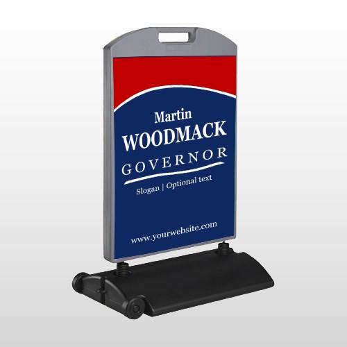 Governor 132 Wind Frame Sign