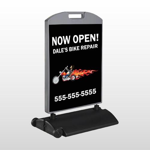 Harley Flames 323 Wind Frame Sign