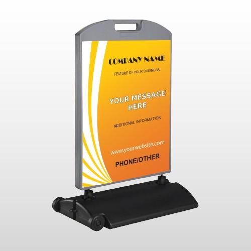 Law 142  Wind Frame Sign