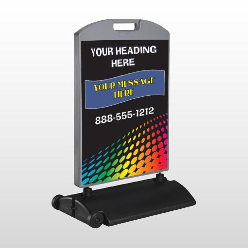 Rainbow Dots 143 Wind Frame Sign