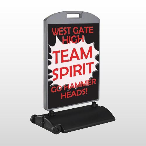 Team 43 Wind Frame Sign