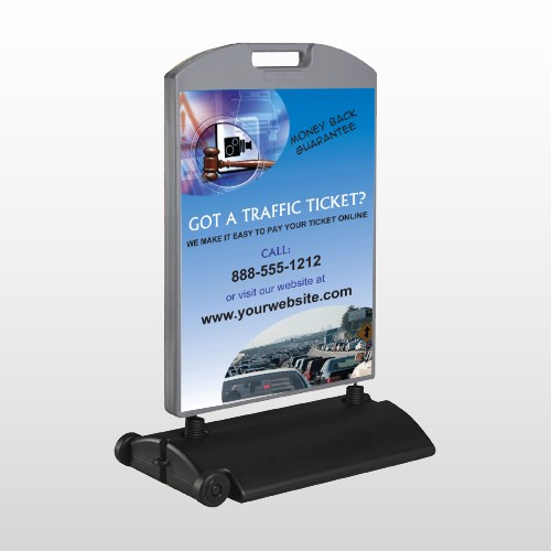 Traffic Cars 151 Wind Frame Sign