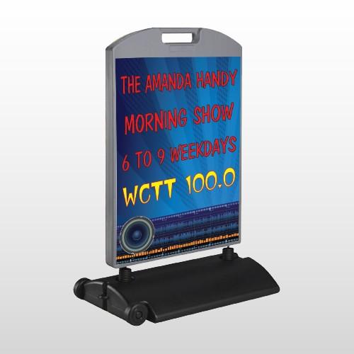 Amp Morning Show 439 Wind Frame Sign