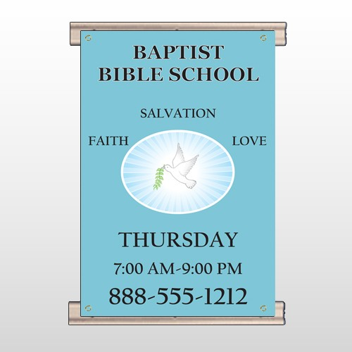 Bible Dove 162 Track Banner