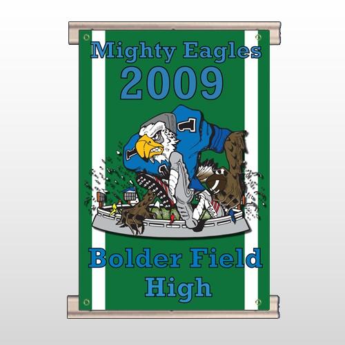 Green 50 Track Banner