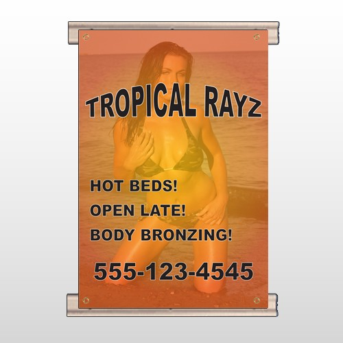 Tropical Rayz Tan 490 Track Banner