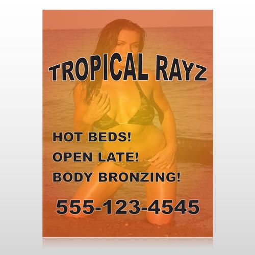 Tropical Rayz Tan 490 Custom Sign