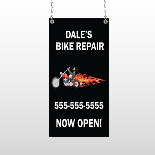 Harley Flames 108 Window Sign