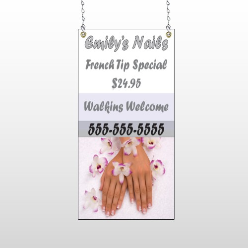 Nails 295 Window Sign