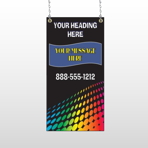 Rainbow Dots 143 Window Sign