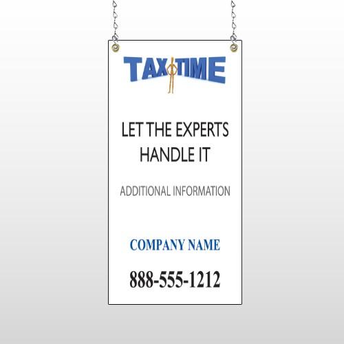 Tax Time 153 Window Sign