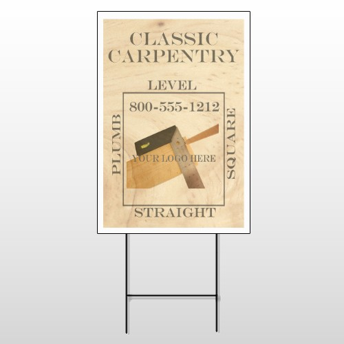Carpentry 236 Wire Frame Sign