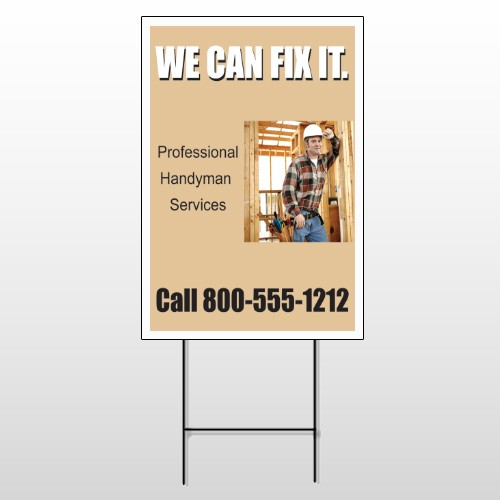 Handyman 240 Wire Frame Sign