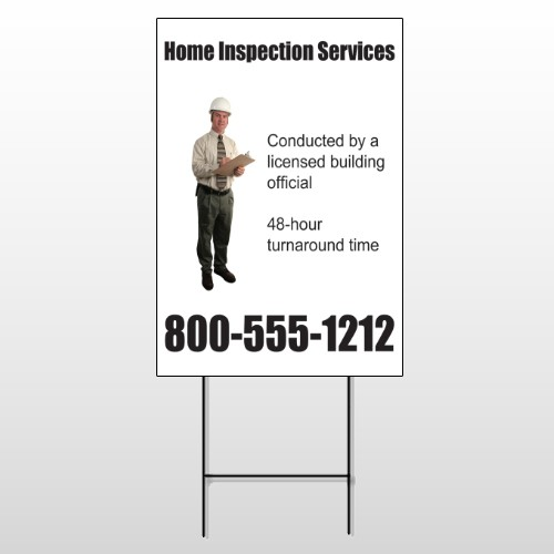 Inspection 244 Wire Frame Sign