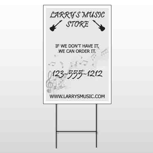 Music 371 Wire Frame Sign