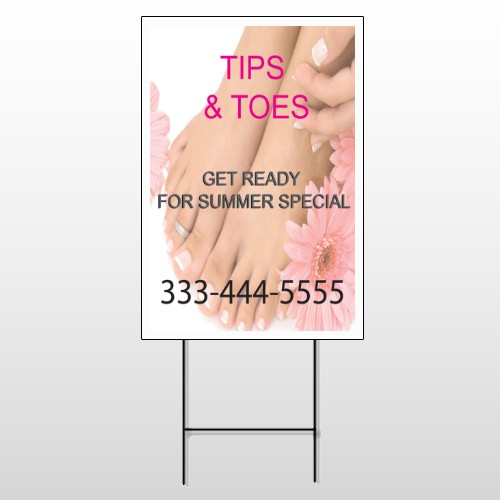 Tips & Toes 488 Wire Frame Sign