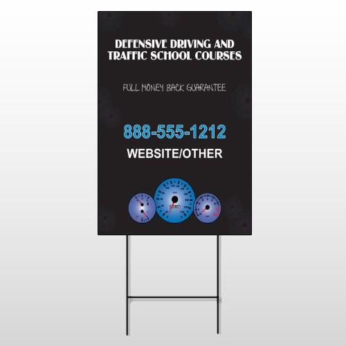 Traffic School 152 Wire Frame Sign