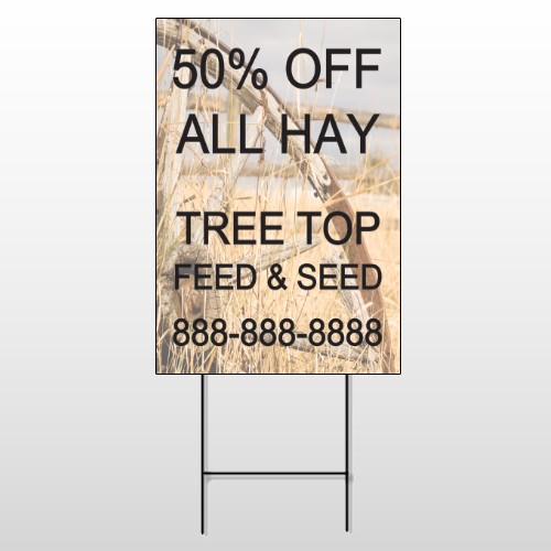 Wood Wheel 413 Wire Frame Sign
