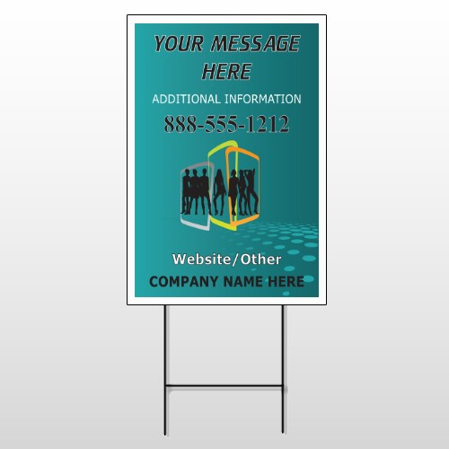 Fashion Models 180 Wire Frame Sign