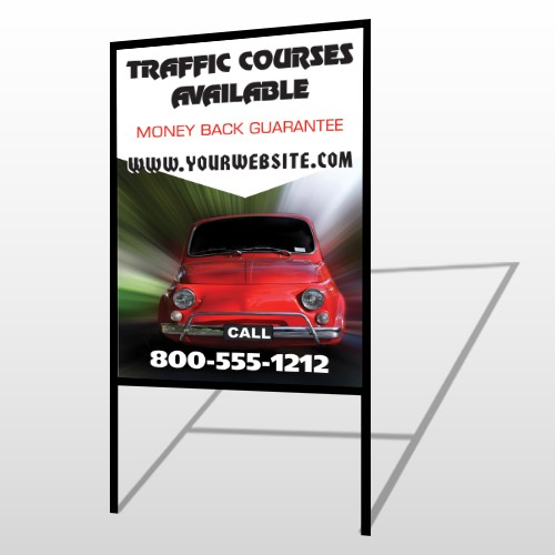 Car Traffic 153 H-Frame Sign