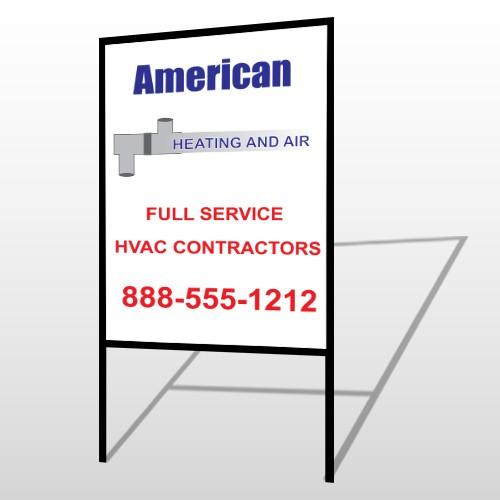 Construction 252 H Frame Sign
