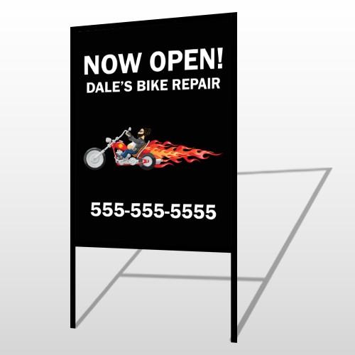 Harley Flames 323 H-Frame Sign