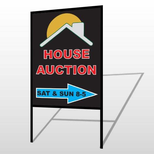Auction Right Arrow 729 H-Frame Sign
