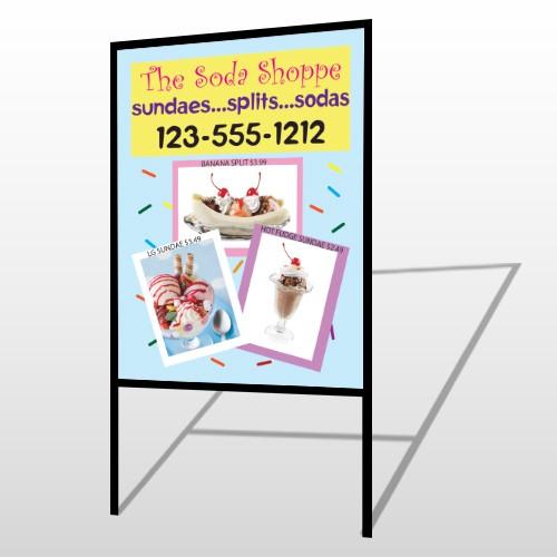Ice Cream 374 H Frame Sign