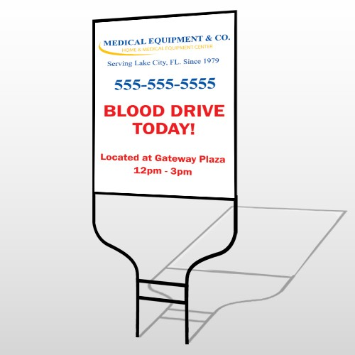 Blood Drive 97 Round Rod Sign
