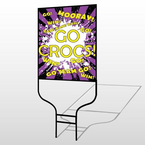 Crocs 42 Round Rod Sign