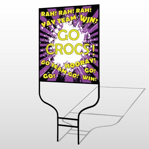 Crocs 54 Round Rod Sign