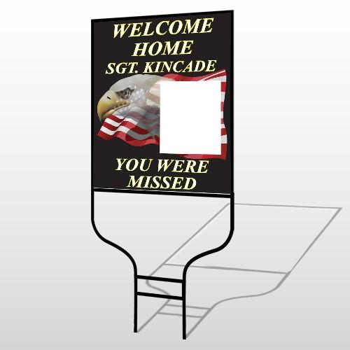 Eagle Flag 307 Round Rod Sign