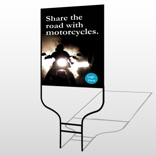 Motorcycle 106 Round Rod Sign