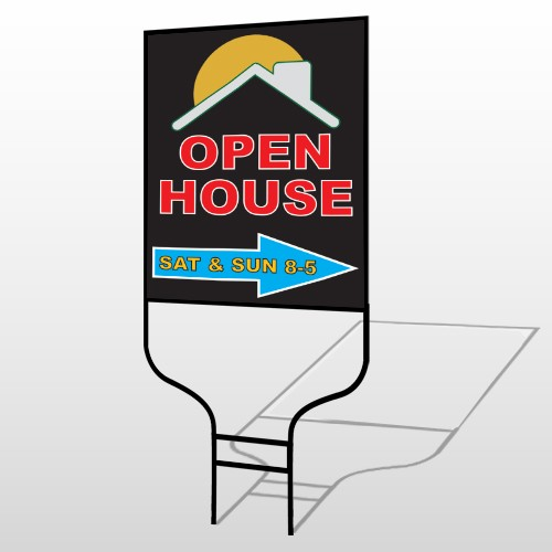 Open Moon Roof 727 Round Rod Sign