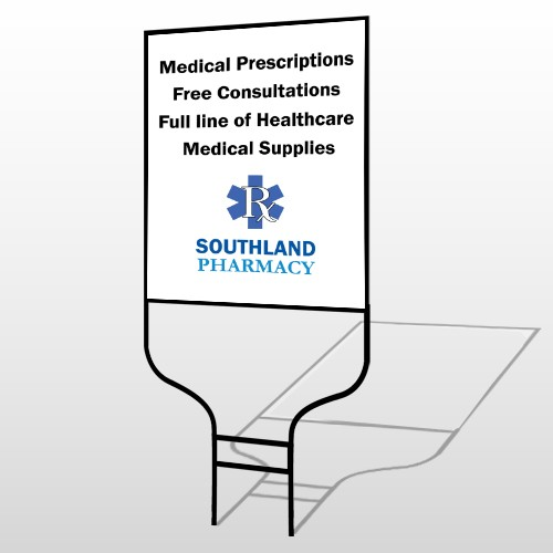 Pharmacy 335 Round Rod Sign