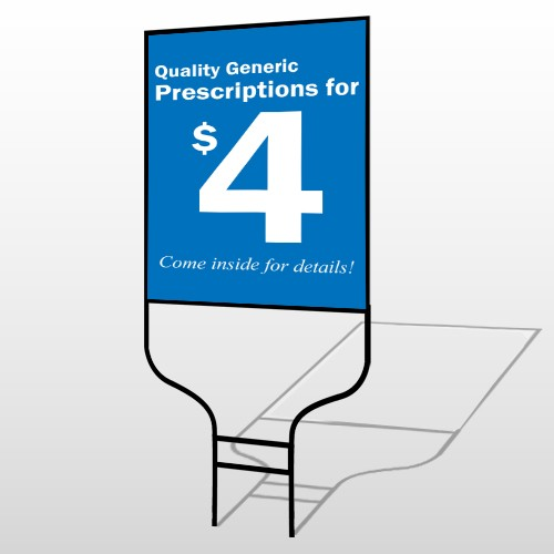 Pharmacy 102 Round Rod Sign