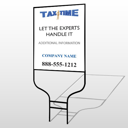 Tax Time 153 Round Rod Sign