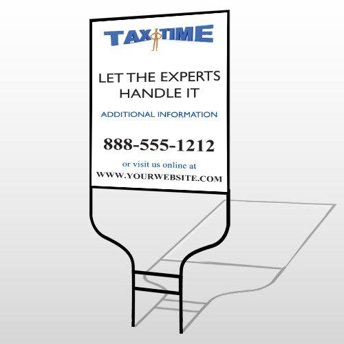 Tax Time 171 Round Rod Sign