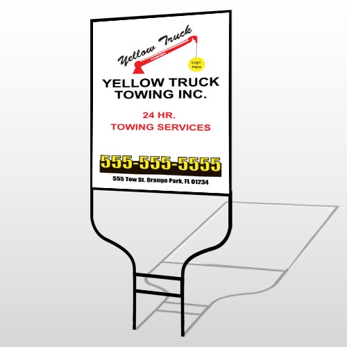 Towing 125 Round Rod Sign