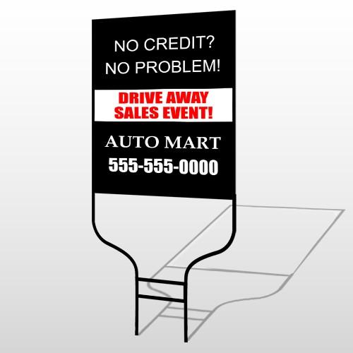 Auto Mart 114 Round Rod Sign