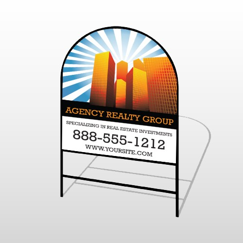 Rays & Builidngs 486 H-Frame Arch Sign