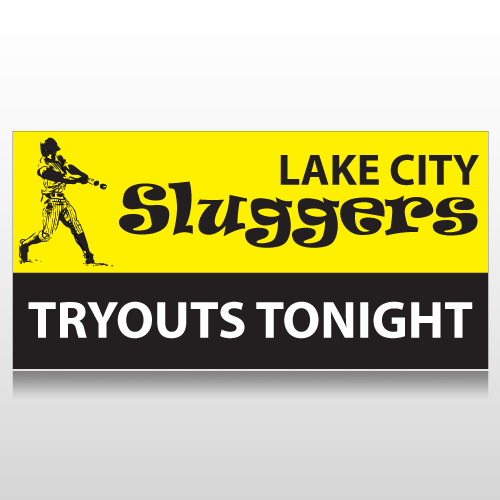 Baseball Tryouts Sports Banner