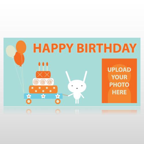 Birthday Rabbit Banner