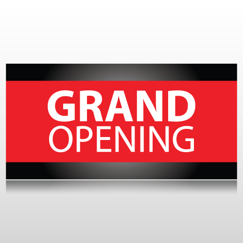 Black and Red Grand Opening Banner