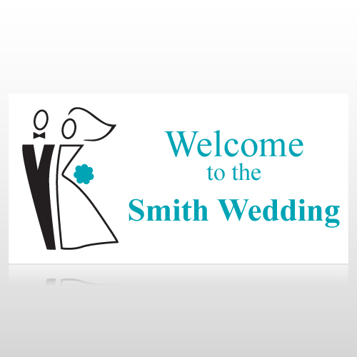 Bride & Groom Welcome To The Wedding Banner
