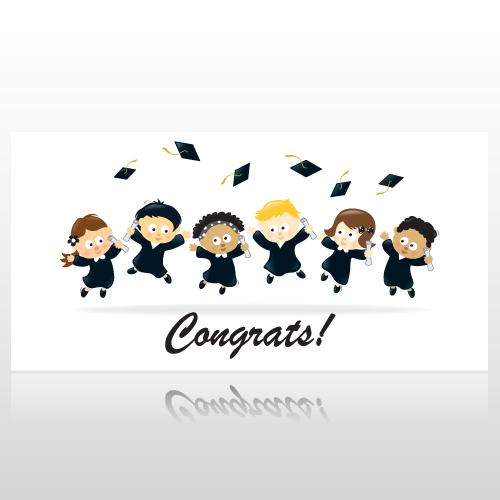 Childrens Congratulations Graduation Banner